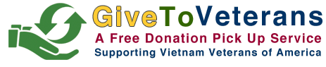 Your used items aid the Vietnam Veterans of America through our free donation pick up service