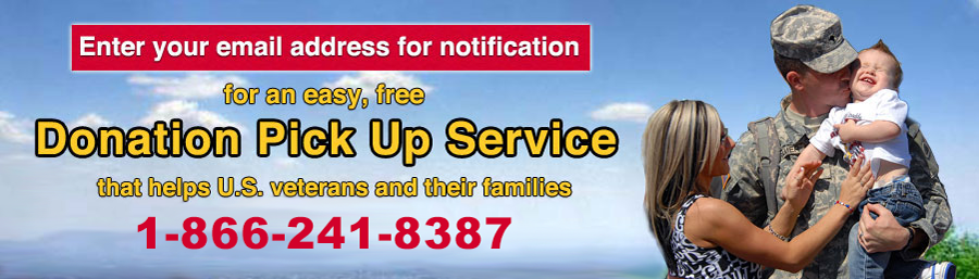 An easy, free donation pick up service that helps US veterans and their families. 1-866-241-8387